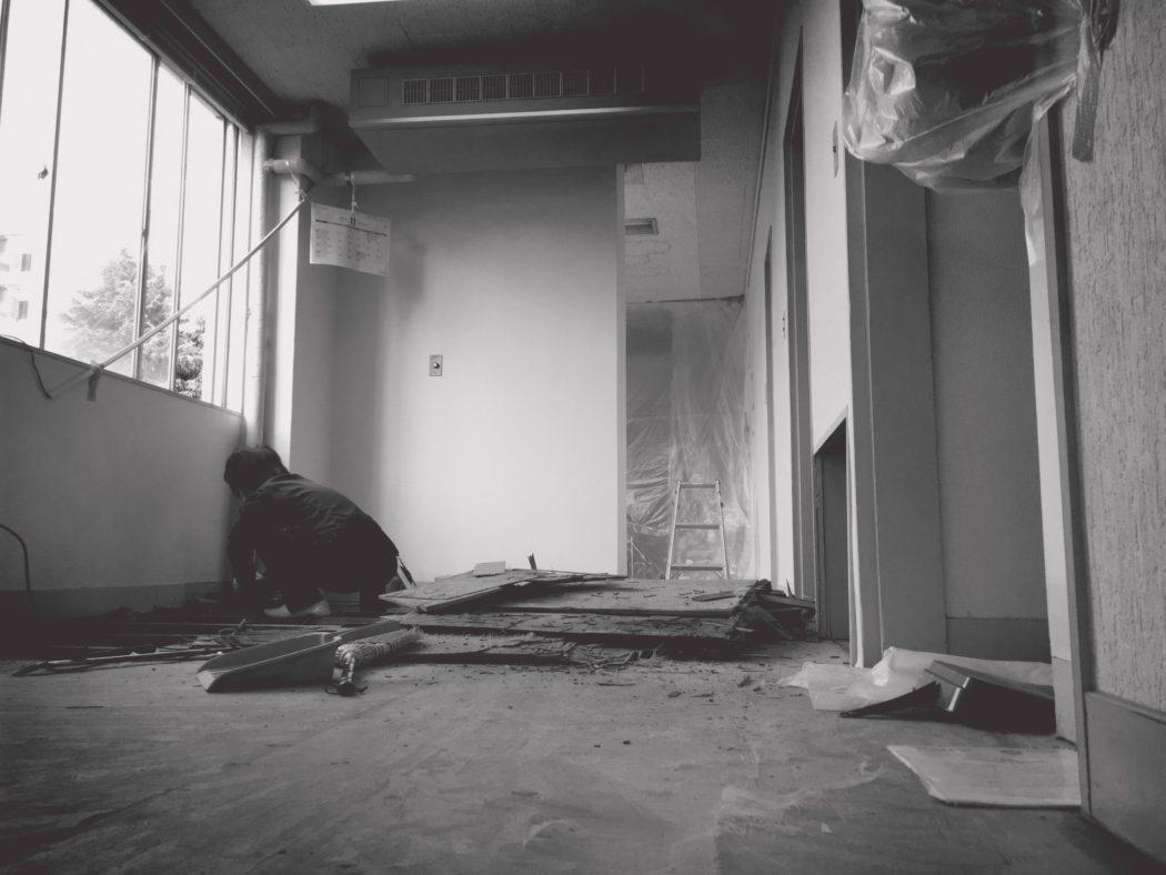 歯科医院の床改修工事