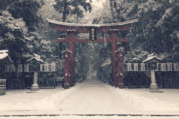 初詣祈願、そして大雪